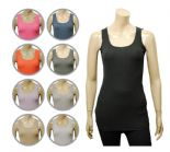 Wholesale Womens Ex Chainstore Vest Tank Top Ribbed A12